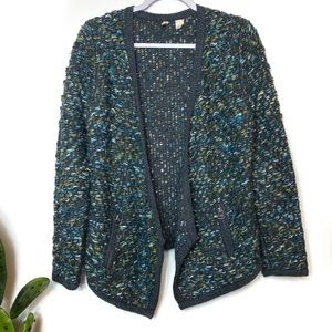 Anthropologie MOTH knit wool blend cardigan Small